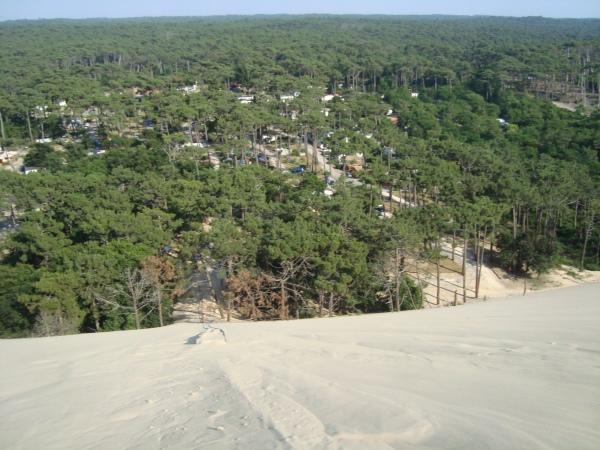 Utsikt över Camping de la Dune
